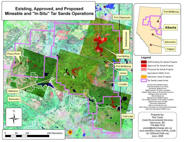 "Existing, Approved and Proposed Mineable and ""In-Situ"" Tar Sands Operations"